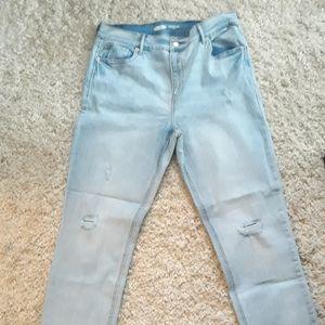 Old navy Distressed blue denim jeans